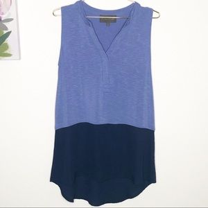 Sunday in Brooklyn   Color-block Blue Tank  S